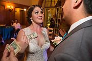 Bride and groom celebrate their outdoor villa wedding at the Montalvo Arts Center in Saratoga, California, on September 23, 2016. (Stan Olszewski/SOSKIphoto)