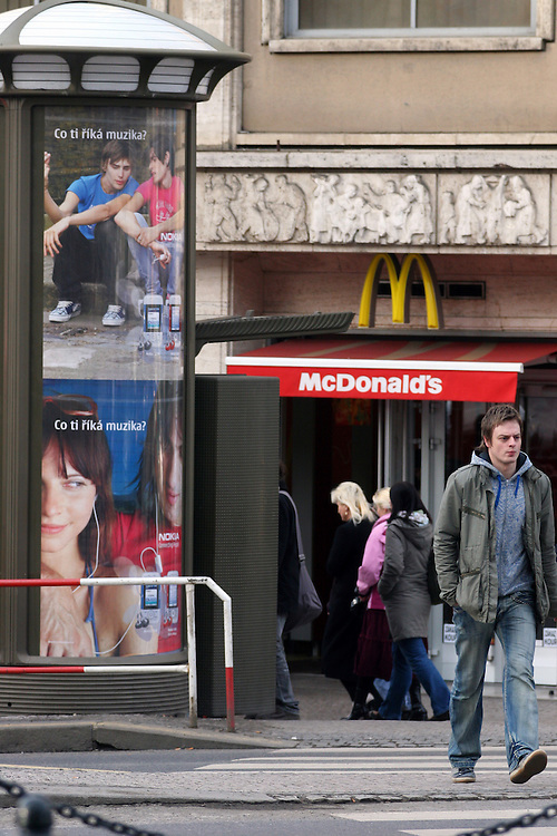 Mc Donalds branch located at the upper Wenceslas Square towards the National Museum.