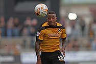 Aaron O'Connor of Newport in action. Skybet football league two match, Newport county v AFC Wimbledon at Rodney Parade in Newport, South Wales on Saturday 27th Sept 2014<br /> pic by Mark Hawkins, Andrew Orchard sports photography.