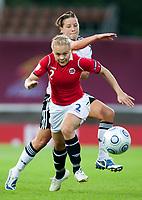 Fotball<br /> EM 2009 kvinner<br /> Semifinale<br /> Tyskland v Norge<br /> Foto: Jussi Eskola/Digitalsport<br /> NORWAY ONLY<br /> <br /> Toril Hetland Akerhaugen