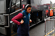 Felipe Anderson gets off the team bus on arrival at the Vitality Stadium before the Premier League match between Bournemouth and West Ham United at the Vitality Stadium, Bournemouth, England on 19 January 2019.