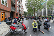People hold placards and take a knee in front of the Home Office HQ building in London, Saturday, June 6, 2020, and march towards the Home Office during a rally to protest against the killing of George Floyd by police officers in Minneapolis, USA. Floyd, a black man, died after he was restrained by Minneapolis police while in custody on May 25 in Minnesota. (Photo/ Vudi Xhymshiti)