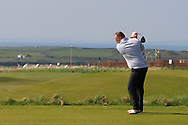Ben Best (Rathmore) on the 1st tee during Round 3 of The West of Ireland Open Championship in Co. Sligo Golf Club, Rosses Point, Sligo on Saturday 6th April 2019.<br /> Picture:  Thos Caffrey / www.golffile.ie