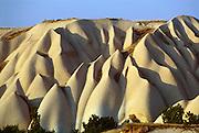 Uchisar, Cappadocia, Turkey: eroded volcanic tuff hillside