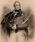Thomas Graham, Baron Lynedoch (1750-1843) Scottish general who fought in  the Napoleonic Wars. He served under Sir John Moore in Portugal in the Peninsular campaign. Victorious at Barossa 1811. Commanded left wing at Vittoria 1813.   Engraving from 'A Biographical Dictionary of Eminent Scotsmen' by Thomas Thomson (1870).