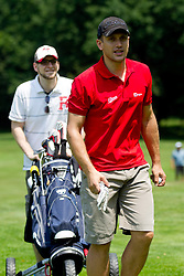 Jure Kosir and Rok Grilc in background at Anze's Eleven and Triglav Charity Golf Tournament, on June 30, 2012 in Golf court Bled, Slovenia. (Photo by Matic Klansek Velej / Sportida)