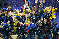 France players celebrate with the trophy after winning the 2018 FIFA World Cup Russia, final football match between France and Croatia on July 15, 2018 at Luzhniki Stadium in Moscow, Russia - Photo Tarso Sarraf / FramePhoto / ProSportsImages / DPPI
