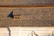 Timber roof tiles of the Refectory (Trapezna) of St. John the Divine in St. Michael's Golden-Domed Monastery. Kiev, Ukraine, 2007
