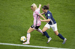 Kirsty SMITH (SCO) Florencia BONSEGUNDO (ARG) in action during the match of 2019 FIFA Women's World Cup France group D match between Scotland and Argentina, at Parc Des Princes stadium on June 19, 2019 in Paris, France. Photo by Loic Baratoux/ABACAPRESS.COM