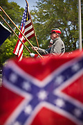 Confederate re-enactos present the colors at Magnolia Cemetery to mark Confederate Memorial Day on May 10, 2011 in Charleston, South Carolina.  South Carolina is one of three states that marks the day as a public holiday.