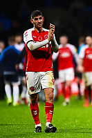 Fleetwood Town's Ched Evans applauds the fans<br /> <br /> Photographer Richard Martin-Roberts/CameraSport<br /> <br /> The EFL Sky Bet League One - Bolton Wanderers v Fleetwood Town - Saturday 2nd November 2019 - University of Bolton Stadium - Bolton<br /> <br /> World Copyright © 2019 CameraSport. All rights reserved. 43 Linden Ave. Countesthorpe. Leicester. England. LE8 5PG - Tel: +44 (0) 116 277 4147 - admin@camerasport.com - www.camerasport.com