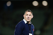 Assistant Coach Mark Hammett of the Highlanders looks on. Super Rugby match, Blues v Highlanders at Eden Park, Auckland, New Zealand. 20 April 2018 © Copyright Photo: Anthony Au-Yeung / www.photosport.nz