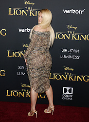 Meghan Trainor at the World premiere of 'The Lion King' held at the Dolby Theatre in Hollywood, USA on July 9, 2019.