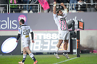 Essai - Zurabi Zhvania - 28.12.2014 - Stade Francais / Racing Club Toulon - 14eme journŽe de Top 14<br />Photo : Aurelien Meunier / Icon Sport