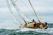 Annie sailing in the Opera House Cup regatta.