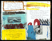 an infinitude of shapes, this is the practice of subtle discrimination~~~ Art Journal by Elena Ray. Handmade artist's journals filled with collage and crazy wisdom.