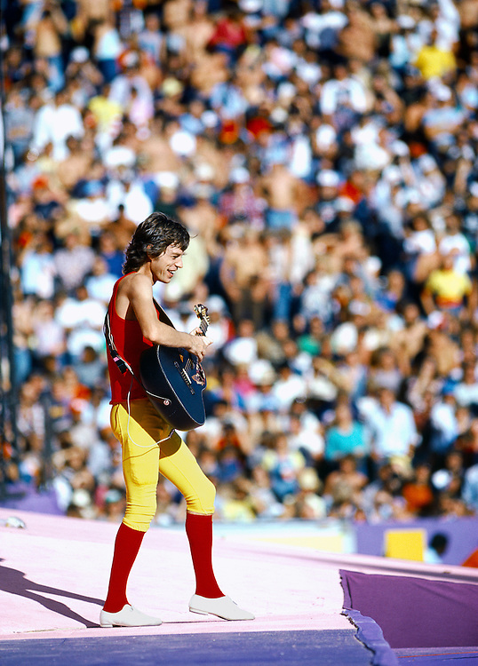 Limited Edition of 25 All Sizes Included. Mick plays the Bolero Guitar at Folsom Stadium in Boulder Colorado in 1981