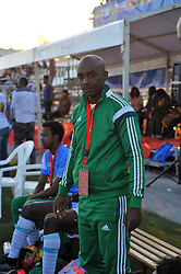 October 9, 2017 - Nabeul, Tunisia - Cissé Momo coach of Senegal during  the second day of the group stage of the WMF World of Mini Foot 2017, played in Nabeul (60km south of Tunis) between USA and Senegal. (Credit Image: © Chokri Mahjoub via ZUMA Wire)