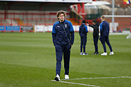 Mads Bech Sørensen of Wimbledon inspecting the pitch during the EFL Sky Bet League 1 match between Accrington Stanley and AFC Wimbledon at the Fraser Eagle Stadium, Accrington, England on 1 February 2020.