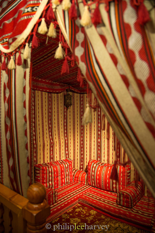Tented seating area at Al Tawasol restaurant, United Arab Emirates