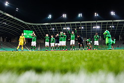 Players of NK Olimpija Ljubljana during the football match between NK Olimpija Ljubljana and NS Mura in 25. Round of Prva liga Telekom Slovenije 2019/20, on March 8, 2020 in Stadion Stozice, Ljubljana, Slovenia. Photo by Grega Valancic / Sportida