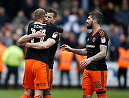 Matt Done of Sheffield Utd celebrates scoring the third goal during the English League One match at Vale Park Stadium, Port Vale. Picture date: April 14th 2017. Pic credit should read: Simon Bellis/Sportimage