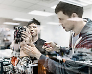 Engeniers works on Sophia inside the hanson robotic lav<br /><br />The first complex AI system realized on theSingularityNETis an AI brain forSophia Hanson— the most sophisticated humanoid robot ever built.<br /> This Year Saudi Arabia granted the status of Citizen to Sophia, that became the first robot to be recognized as a citizen.The new version of Sophia's mind, currently under development bySingularityNETin conjunction with Hong Kong firm Hanson Robotics, will be a core node of theblockchain. Her intelligence will be plugged in the network for everyone's benefit and will also receive input and wisdom from everyone's algorithms. Sophia's mind will be constantly fed with new content fromSingularityNET, while at the same time helping to power the network with its human-like intelligence.