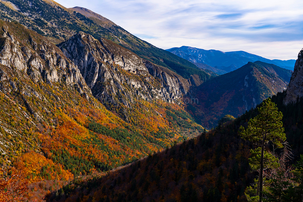 Autumn colours at Pedraforca, the forked mountain of Catalonia. At 2506m, it stands proud amonts the Catalan pre-Pyrenees, make for a dramatic sight.