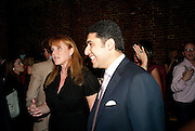 SARAH DUCHESS OF YORK; CYRUS VANDREVALA;,  The launch party for Elephant Parade hosted at the house of  Jan Mol. Covent Garden. London. 23 June 2009.