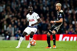 Davinson Sanchez of Tottenham Hotspur takes on Hakim Ziyech of Ajax - Mandatory by-line: Robbie Stephenson/JMP - 30/04/2019 - FOOTBALL - Tottenham Hotspur Stadium - London, England - Tottenham Hotspur v Ajax - UEFA Champions League Semi-Final 1st Leg