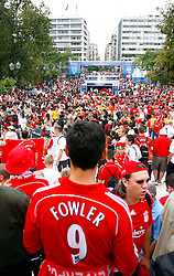 Athens, Greece - Wednesday, May 23, 2007: Liverpool's fans in Syntagma Square ahead of the UEFA Champions League Final against AC Milan. (Pic by David Rawcliffe/Propaganda)