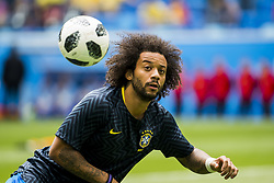 June 22, 2018 - Sankt Petersburg, Russia - 180622 Marcelo of Brazil during warm up ahead of the FIFA World Cup group stage match between Brazil and Costa Rica on June 22, 2018 in Sankt Petersburg..Photo: Petter Arvidson / BILDBYRÃ…N / kod PA / 92075 (Credit Image: © Petter Arvidson/Bildbyran via ZUMA Press)