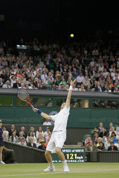 Mcc0032212 .Daily Telegraph..Andrew Murray vs Ivan Ljubicic..The fifth day of The Lawn Tennis Championships at Wimbledon..24 June 2011 Wimbledon