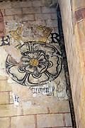 Church of Saint Mary, Berkeley, Gloucestershire, England, UK Tudor Rose wall painting King Edward VI