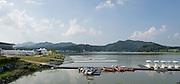 Chungju, South Korea. General Views Finish Tower Area. 2013 World Rowing Champonships, Tangeum Lake, International Regatta Course. 15:44:25  Saturday  24/08/2013 [Mandatory Credit. Peter Spurrier/Intersport Images]