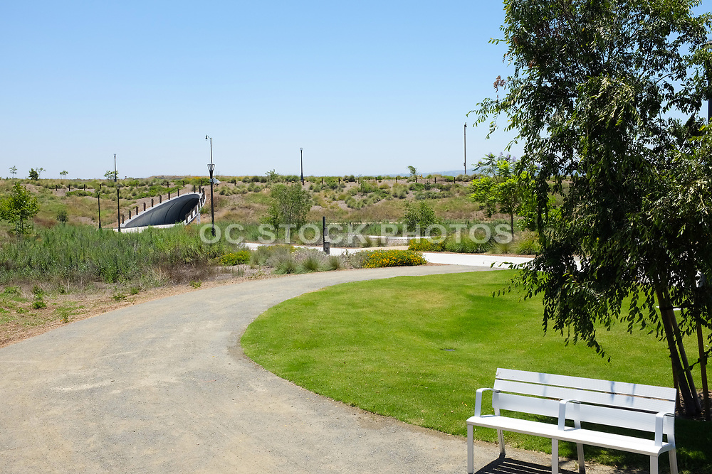 Park Benches in the Bosque Area at Irvine Great Park