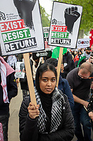 Palestine Protest march from Victoria Embankment to Hyde Park photo by AJ Foot