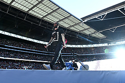 Maroon 5 on stage during Capital's Summertime Ball. The world's biggest stars perform live for 80,000 Capital listeners at Wembley Stadium at the UK's biggest summer party. Picture Credit Should Read: Doug Peters/EMPICS