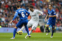 27.01.2013 SPAIN -  La Liga 12/13 Matchday 21th  match played between Real Madrid CF vs Getafe C.F. (4-0) at Santiago Bernabeu stadium. The picture show Gonzalo Higuain (Argentine/French Forward of Real Madrid)