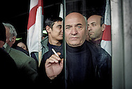 The first day of the street protest that became the Rose Revolution. Tbilisi. 2003