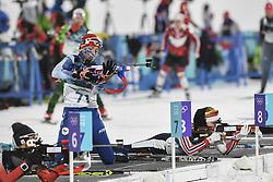 February 10, 2018 - Pyeongchang, GANGWON, SOUTH KOREA - Feb 10, 2018-Pyeongchang, South Korea-Marketa DAVIDOVA of Czech Republic action on the snow during an Olympic Biathlon Women Sprint 7.5Km at Biathlon Center in Pyeongchang, South Korea. (Credit Image: © Gmc via ZUMA Wire)