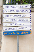 street sign pommard cote de beaune burgundy france