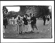 Drinks, Peterhouse Scholars Garden, Cambridge. June 1986