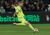 Football - 2017 / 2018 Premier League - West Ham United Vs Huddersfield Town<br /> <br /> Joe Hart (West Ham United) clears the ball at the London Stadium<br /> <br /> COLORSPORT/DANIEL BEARHAM