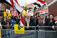 Protest in solidarity with Egyptian Revolutionaries