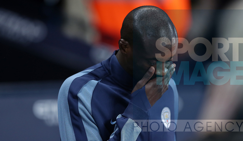Yaya Toure of Manchester City before the English Premier League match at The Etihad Stadium, Manchester. Picture date: December 12th, 2016. Photo credit should read: Lynne Cameron/Sportimage
