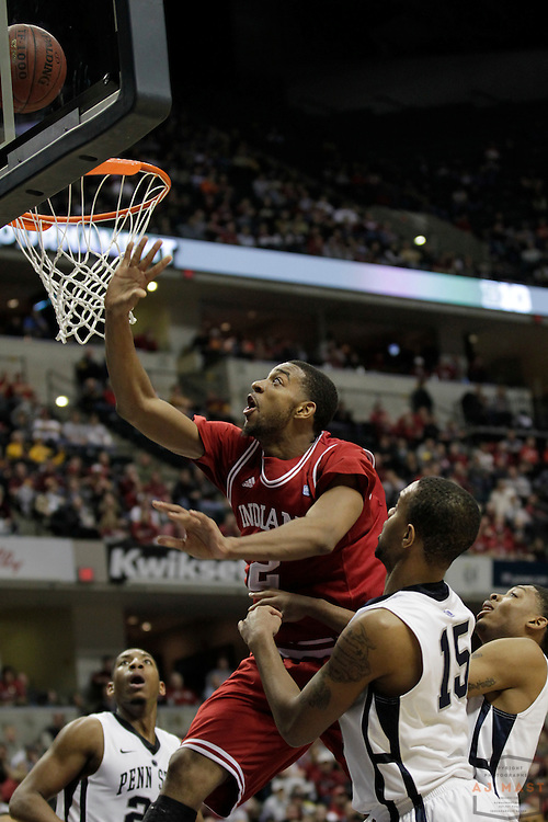 10 March 2011: Indiana forward Christian Watford (2) as the Indiana Hoosiers played the Pen State Nittany Lions in the first round of the Big Ten Mens basketball championship in Indianapolis.