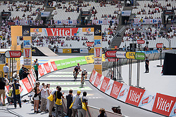 Sabrina Stultiens crosses the line at La Course High Speed Pursuit 2017 - a 22.5 km pursuit road race on July 22, 2017, in Marseille, France. (Photo by Sean Robinson/Velofocus.com)
