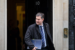 © Licensed to London News Pictures. 27/03/2018. London, UK. Justice Secretary David Gauke leaves Downing Street after attending a Cabinet meeting this morning. Photo credit : Tom Nicholson/LNP