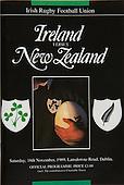 Rugby 1989 - 18/11 Friendly Ireland Vs New Zealand